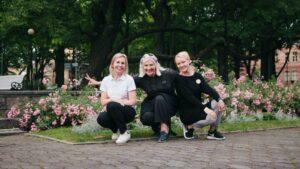 Mullfesti tiim-Riina Rand, Kristel Voltenberg, Helen Huberg